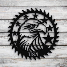 Load image into Gallery viewer, USA Eagle Saw Blade | Blue Hippo Metal Art