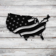Load image into Gallery viewer, USA Map Wavey Flag | Blue Hippo Metal Art