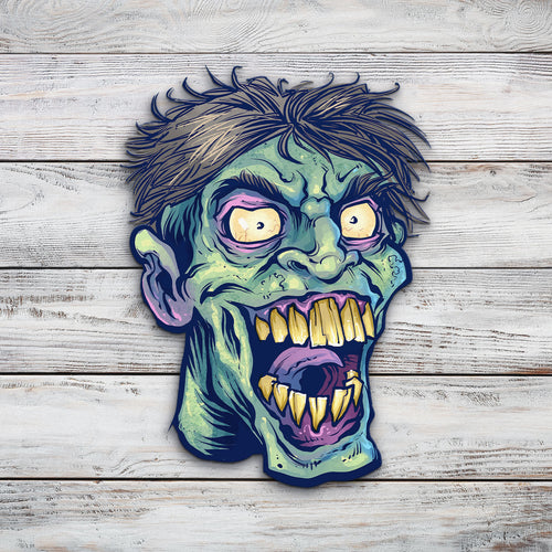 Zombie Head 15 | Blue Hippo Metal Art