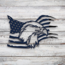 Load image into Gallery viewer, American Eagle Flag V2 | Blue Hippo Metal Art