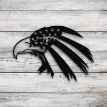 Load image into Gallery viewer, American Eagle Flag V3 | Blue Hippo Metal Art