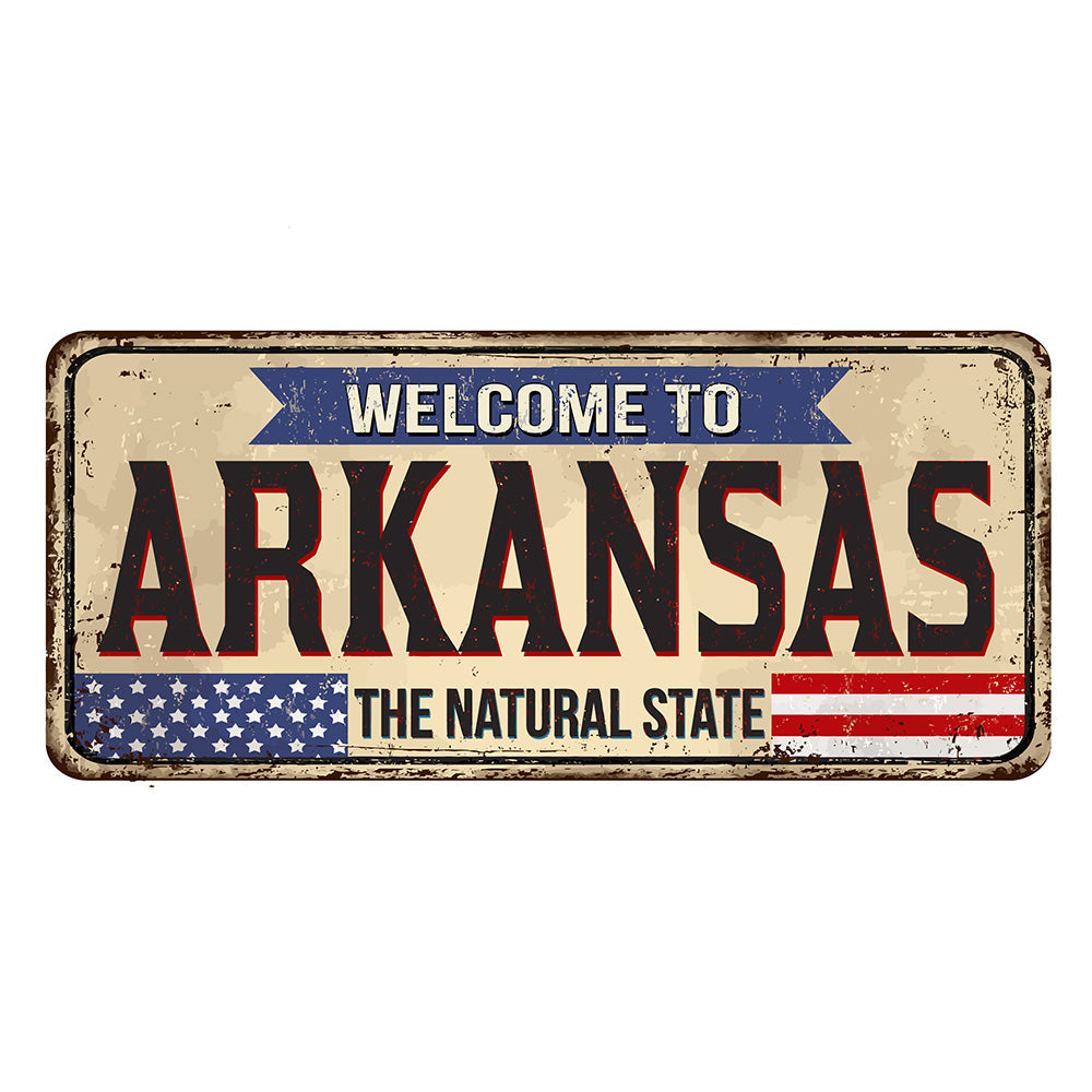 Arkansas License Plate Sign