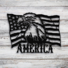 Load image into Gallery viewer, Eagle America Flag | Blue Hippo Metal Art