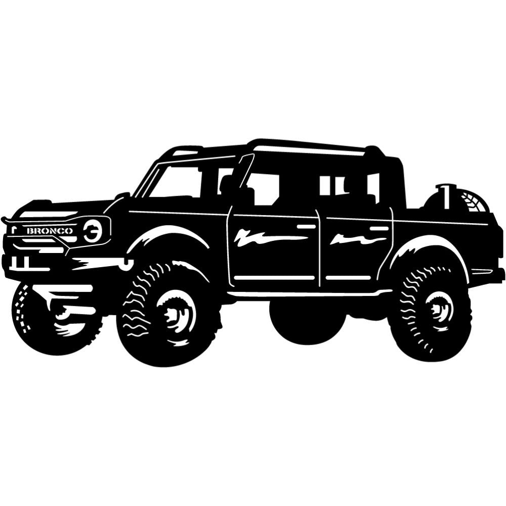 Ford Bronco 4 Door | Blue Hippo Metal Art
