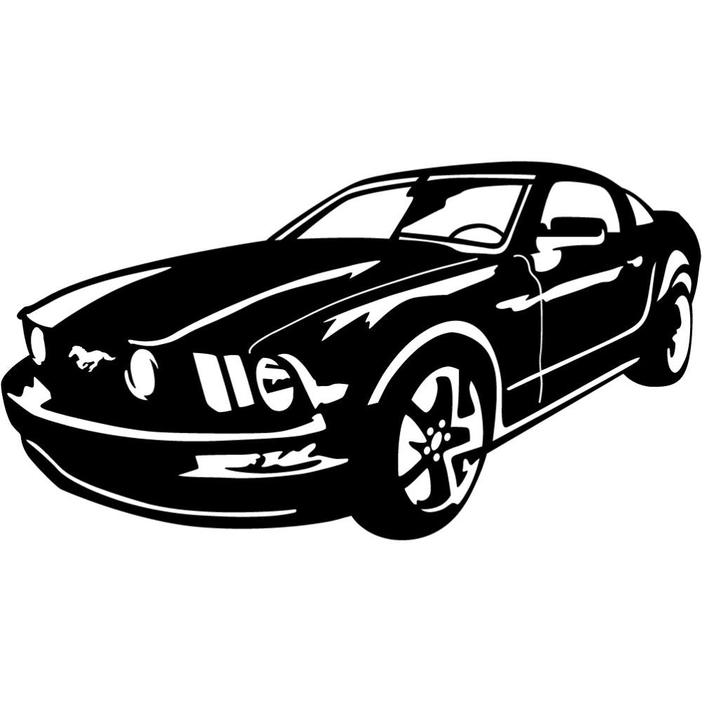 Ford Mustang 2008 Deluxe | Blue Hippo Metal Art