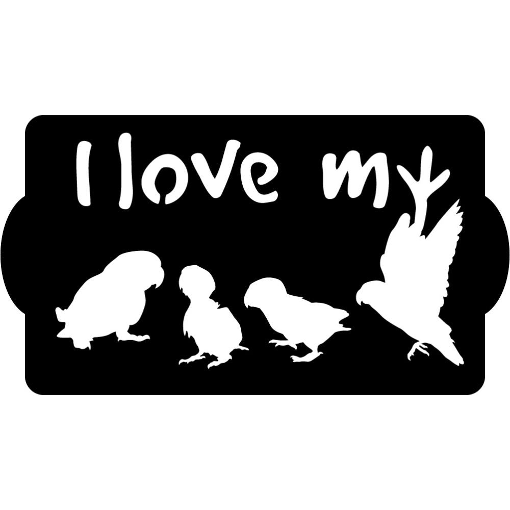 I love my Bird | Blue Hippo Metal Art
