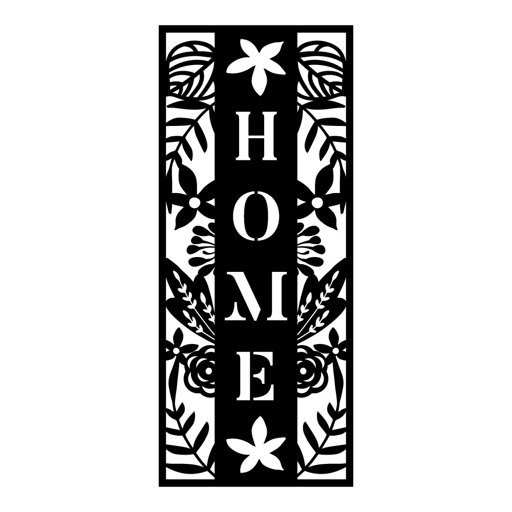 Home Sign V2 | Blue Hippo Metal Art