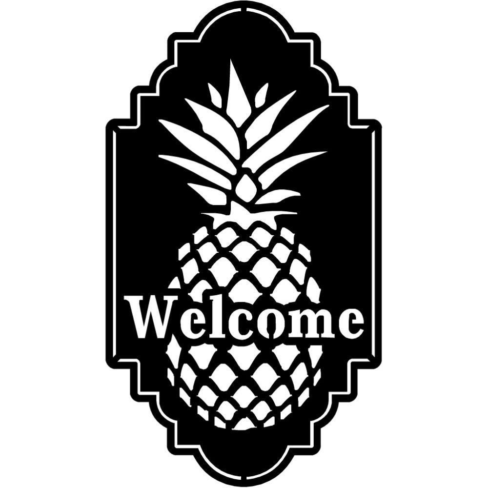 Pine Apple Welcome | Blue Hippo Metal Art