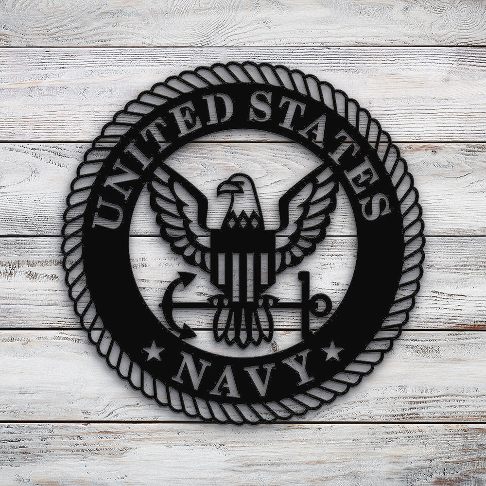 US Navy Crest | Blue Hippo Metal Art