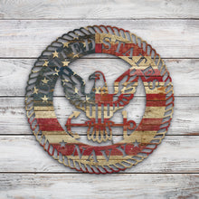 Load image into Gallery viewer, US Navy Crest | Blue Hippo Metal Art