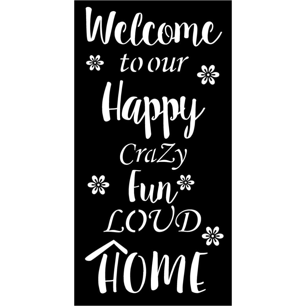 Welcome Sign V36 | Blue Hippo Metal Art