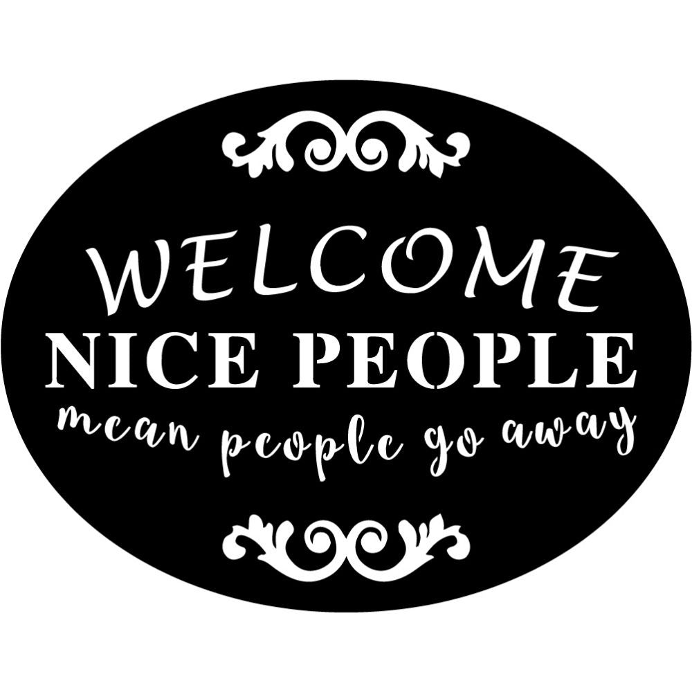 Welcome Sign V67 | Blue Hippo Metal Art
