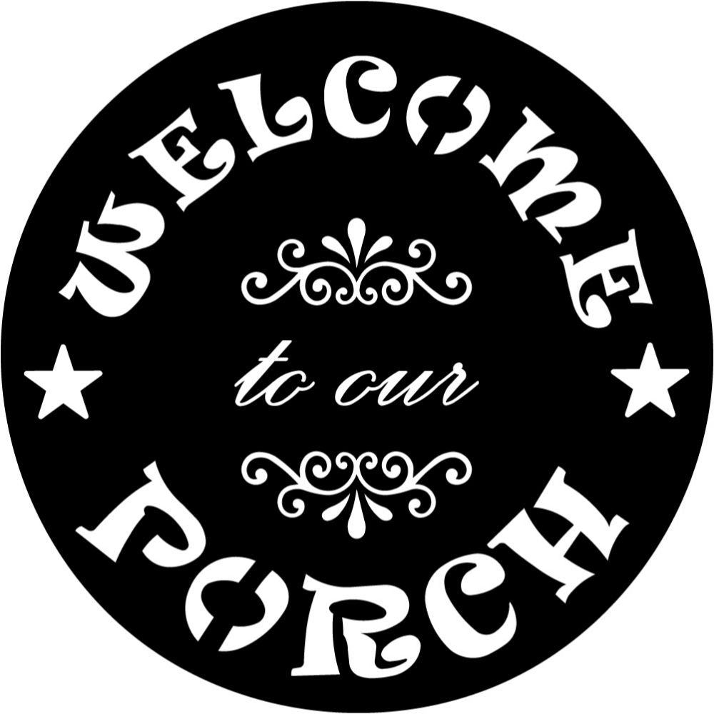 Welcome to our Porch signs V1 | Blue Hippo Metal Art