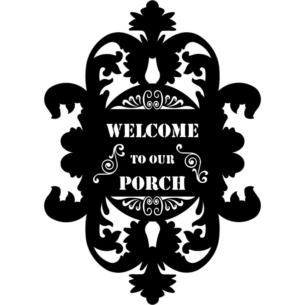 Welcome to our Porch signs V20 | Blue Hippo Metal Art