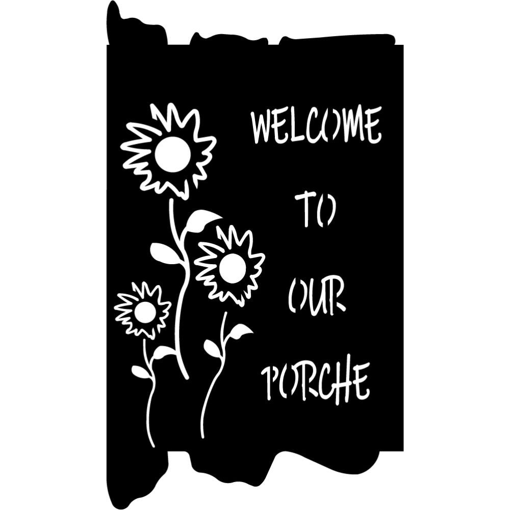 Welcome to our Porch signs V9 | Blue Hippo Metal Art