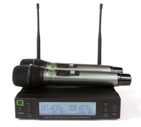 Q AUDIO QWM 1960 V2 HH - UHF Dual Handheld Wireless Microphones