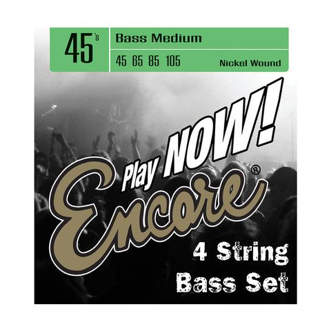 Encore Nickel Wound Bass String Set - Medium