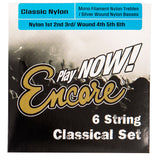 Encore Nylon Silver Wound Classic Guitar String Set