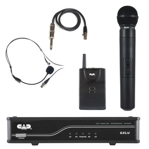 CAD GXLU UHF Combo Microphone & Body Pack Wireless System - K Frequency Band