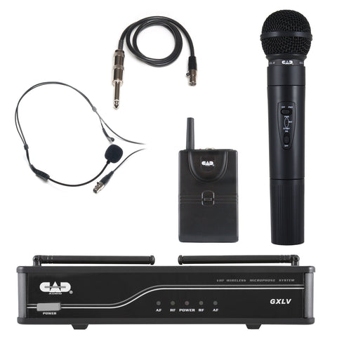 CAD GXLV VHF Combo Microphone & Body Pack Wireless System - J Frequency Band