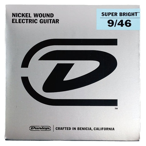 Jim Dunlop Nickel Wound Electric Guitar Strings Super Bright 9/46