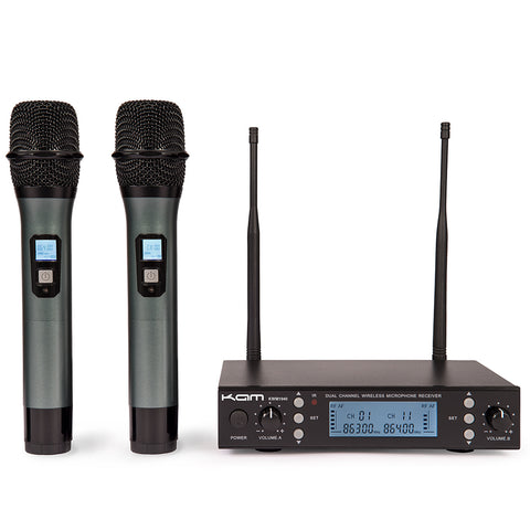 Kam UHF Multi Channel Professional Wireless Microphone System