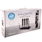 KAM KWM Quartet Wireless Microphone System ~ 4 Mics / 1 Receiver