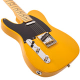 Vintage V52 ICON Electric Guitar ~ Left Hand Butterscotch
