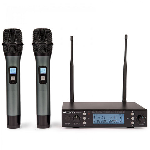 KAM KWM 1940 Version 3 dual handheld UHF wireless microphone system