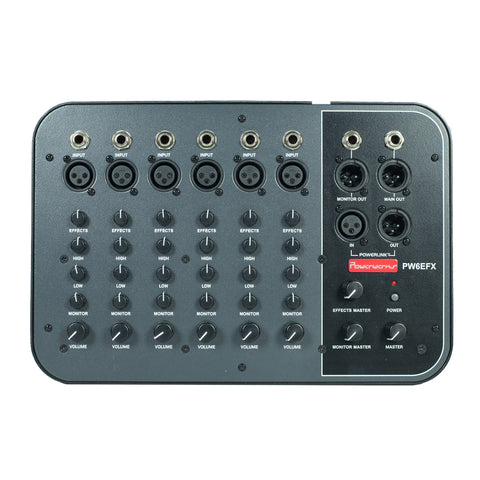 Powerwerks 6 Channel Mixer with Digital Effects