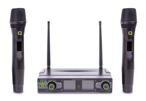 Q AUDIO QWM 1950 HH - UHF Dual Channel Wireless Microphone System