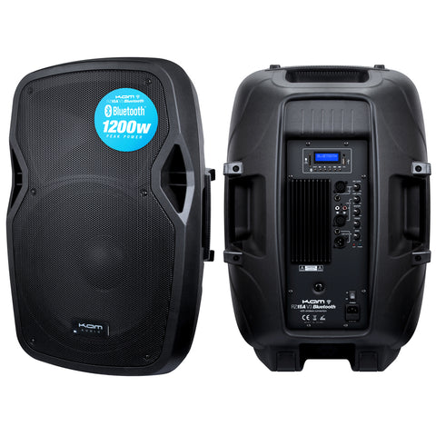 "KAM 15"" Active Speaker with Bluetooth ~ 1200w"
