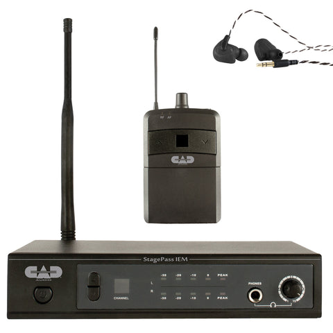 CAD StageSelect IEM Stereo Wireless In Ear Monitoring System