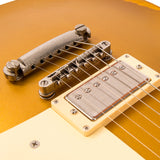 Vintage V100 ICON Electric Guitar ~ Distressed HH Gold Top