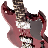 Vintage VS4 ReIssued Bass Guitar ~ Cherry Red