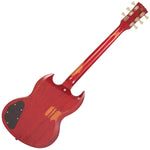 Vintage VS6 ICON Electric Guitar ~ Distressed Cherry Red
