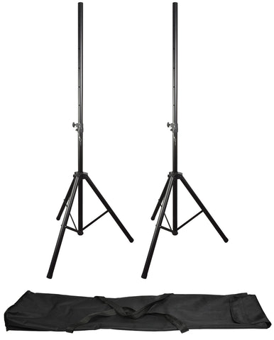 QTX Heavy Duty Speaker Stands kit with carry bag