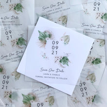 Load image into Gallery viewer, Boho vellum save the dates