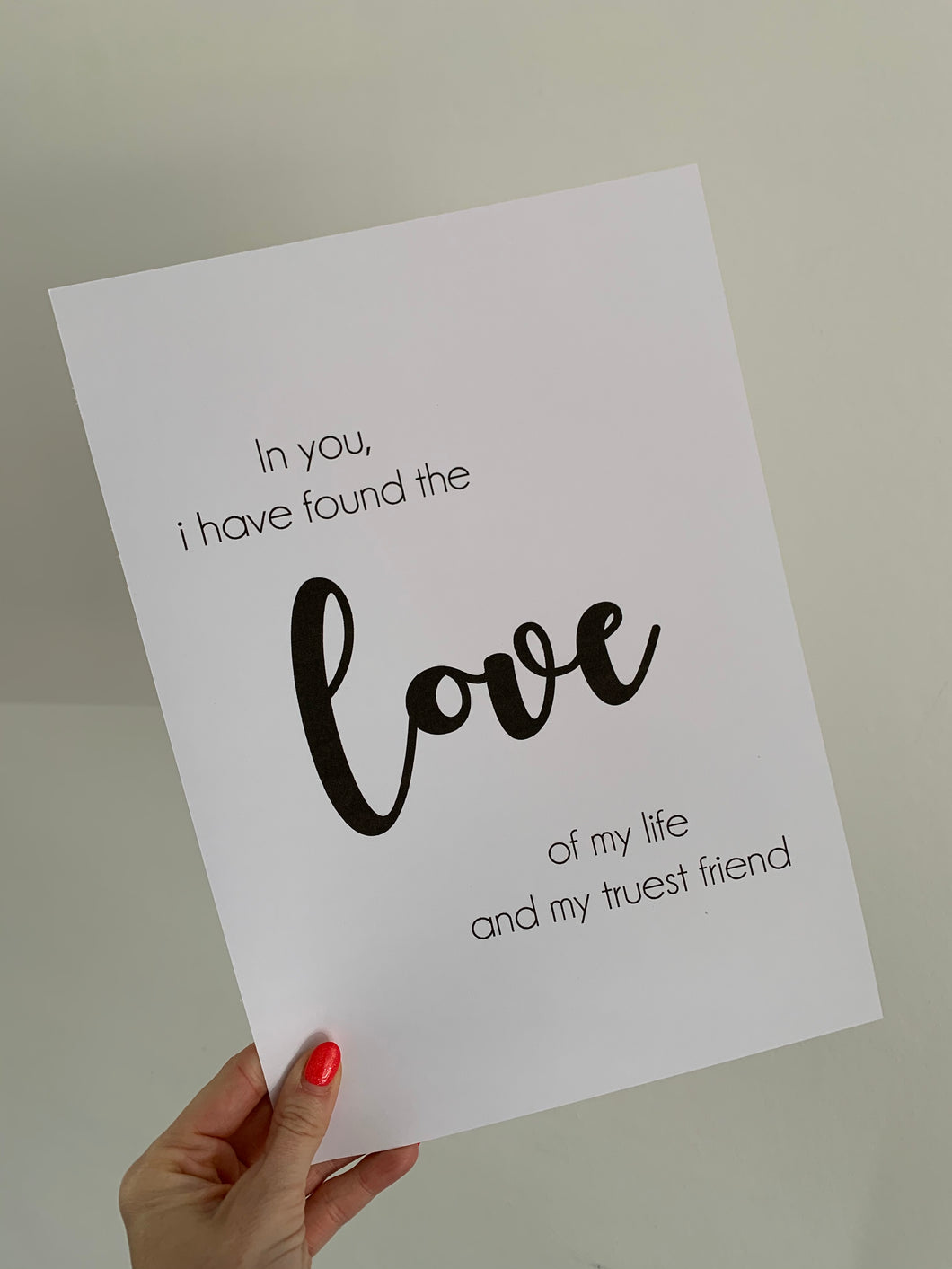 Love of my life print