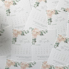 Load image into Gallery viewer, Pale pink floral save the dates