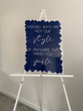 Load image into Gallery viewer, Navy acrylic signage