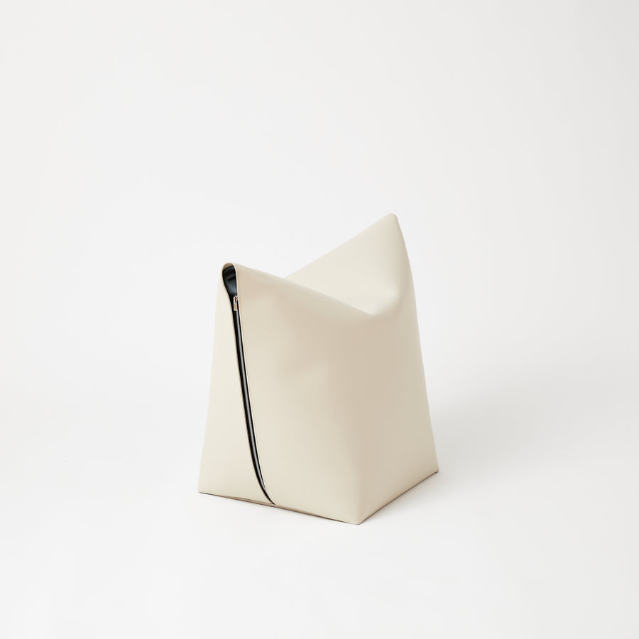 Leather Stool | Ivory