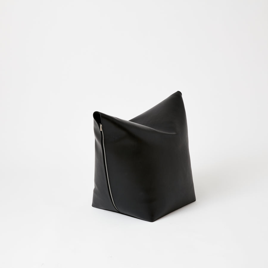 Leather Stool | Black