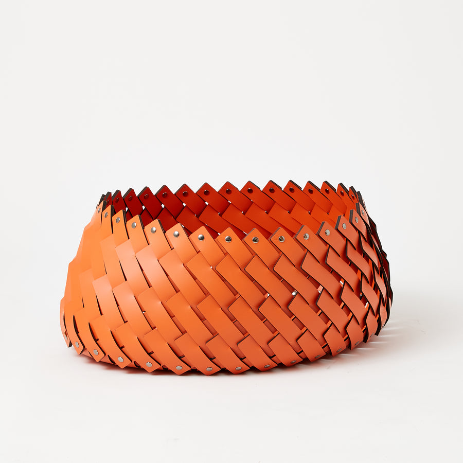 Large Orange Oval Basket