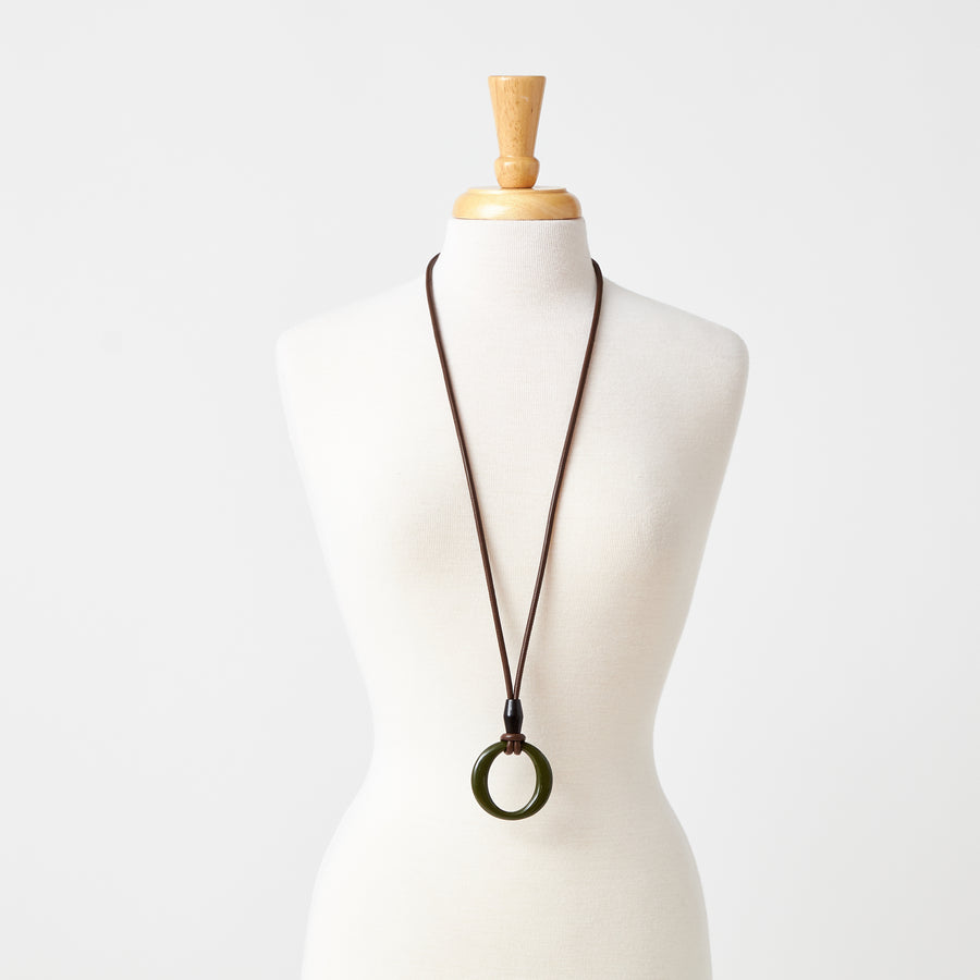 Lacquered Forest O-Ring Necklace