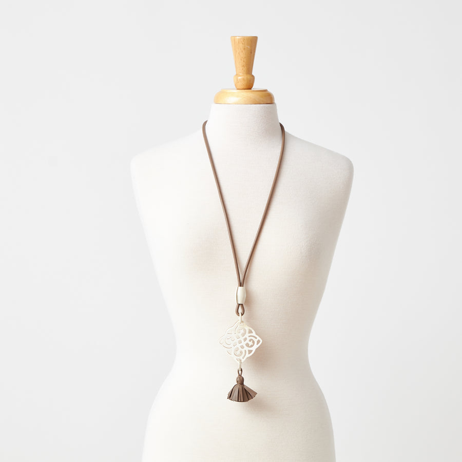 Dana Horn Necklace with Short Tassel