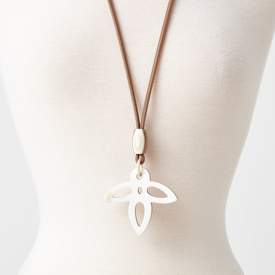 Angel Necklace in White Horn
