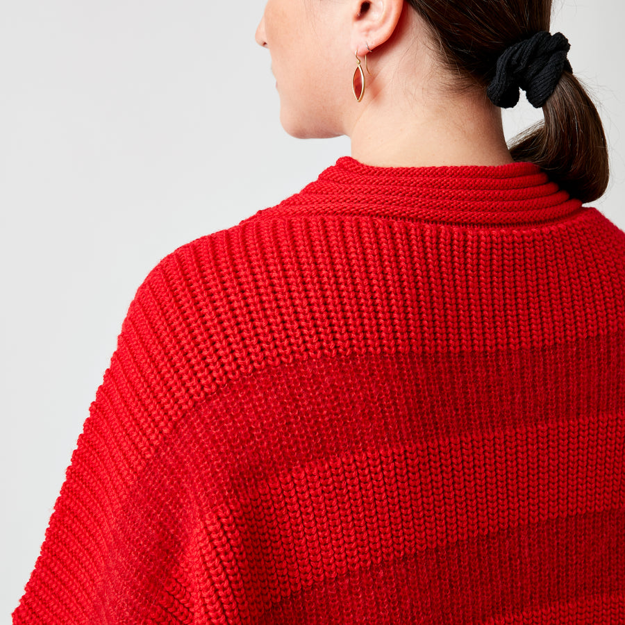 Karin Roche Red Striped Sweater