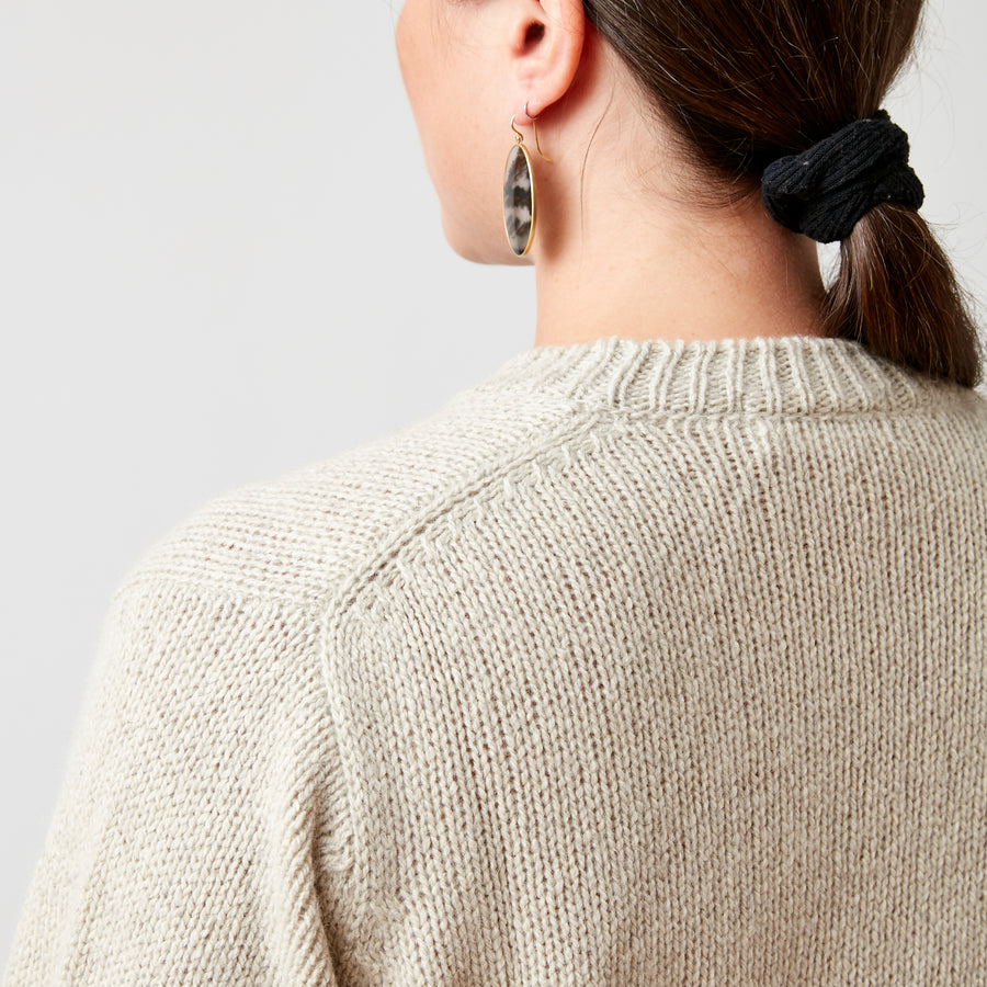 Evam Eva Tweed Crew Neck Sweater
