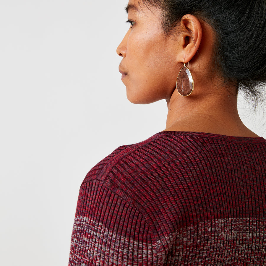 JED Gradient Sweater | Red